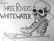 Whitewater Skeleton (Handkerchief Inspired)