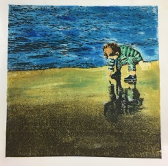 Play is the Work of Childhood Monoprint