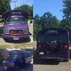 Dingo's Dogsitting Bus Front & Back